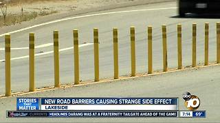 Road barriers causing nausea in drivers - Video