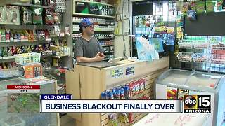 Power restored at Glendale strip mall - Video