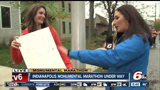 Monumental Marathon: Family celebrates runner's 40th birthday - Video