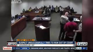 Suspect tries to escape from court | Caught on Camera - Video