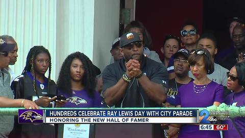 Hundreds Celebrate Ray Lewis Day with City Parade
