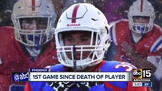 Players take the field after death of teammate - Video