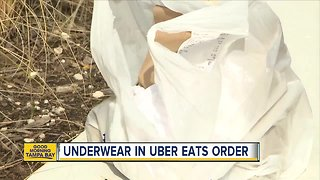 Underwear found in Uber Eats order