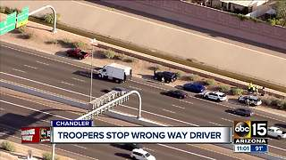 Wrong-way driver stopped on Loop 202 Santan Wednesday