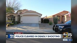 Police cleared in deadly shooting of man outside his home in Gilbert - Video