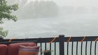 High Winds and Heavy Rain Pummel Fremont, Nebraska - Video
