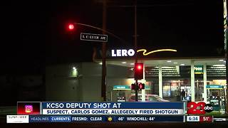 KCSO deputy shot at - Video