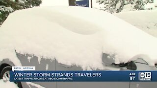 Winter storm strands travelers