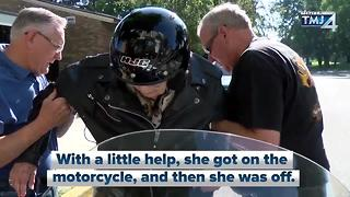 103-year-old takes motorcycle ride - Video
