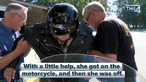 103-year-old takes motorcycle ride