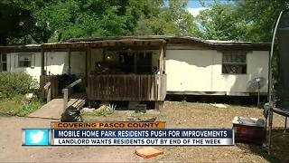Pasco mobile home residents in unsafe conditions; landlord hasn't fixed anything - Video