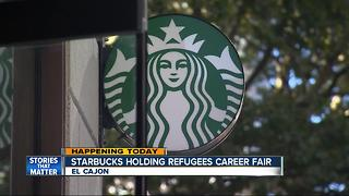Refugee career fair at Starbucks in El Cajon - Video