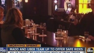 MADD, Uber team up to offer safe rides - Video