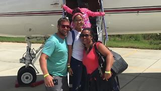 Family from Virgin Islands flies to Palm Beach County following Irma's destruction - Video