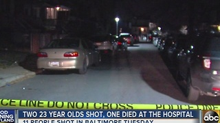 11 separate shootings in Baltimore Tuesday, 2 fatalities - Video
