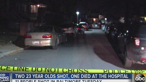 11 separate shootings in Baltimore Tuesday, 2 fatalities