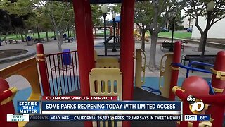 Some parks reopening today with limited access