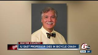 IU Professor dies while riding bike - Video