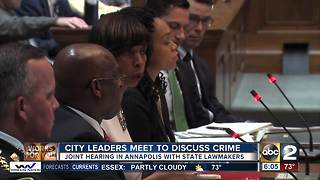 Lawmakers, public, meeting to focus on crime solutions in Baltimore - Video
