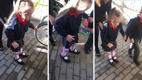 4-Year-Old Girl With Cerebral Palsy Walks Unaided For The First Time