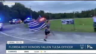 Florida boy honors fallen Tulsa officer
