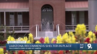 UArizona recommends shelter in place