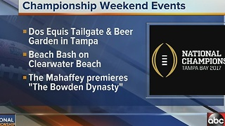 National Championship events in the Tampa Bay area - Video