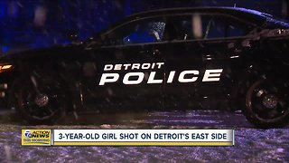 3-year-old girl shot on Detroit's east side