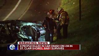 Four people killed in car crash on I-94 in St. Clair Shores - Video