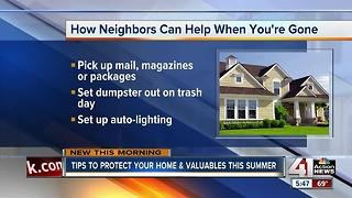 Ways to protect your home from burglars during summer vacation - Video