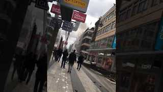 Smoke, Debris Seen Following Stockholm Truck Attack - Video