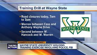 Wayne State University holding training exercise involving police, FBI - Video