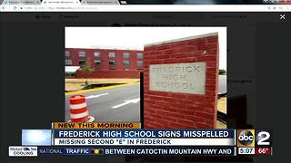 Frederick High School signs misspelled - Video