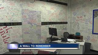 Teacher continues classroom memory wall - Video