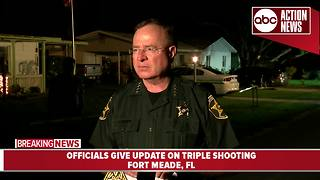 Officials give update on triple shooting in Fort Meade