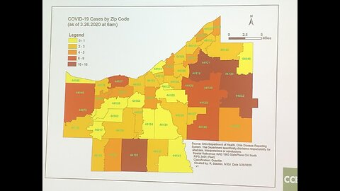 Cuyahoga County Board of Health release map of cases