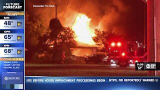 Home destroyed after fire in Clearwater