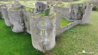 Spectacular drone footage captures 13th-century Norman castle in Ireland