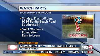 World Cup final watch party to benefit community - Video