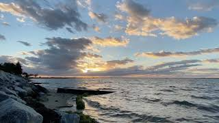 Wonderful sun set classical music , Relax With Nature - music ocean waves
