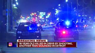 16-year-old killed, 15-year-old injured in drive-by shooting on Detroit's west side - Video