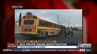 Bus driver faces investigation for bus stop - Video