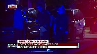 Sisters shot while riding in a car on Detroit's west side - Video