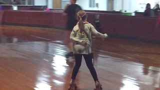 Young Girl's Roller Skating Fail - Video