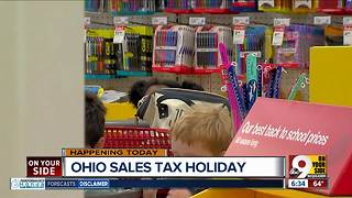 Ohio sales tax holiday begins - Video