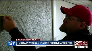 Fire Displaces Military Veteran - Video
