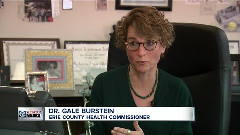 Erie County's top doctor to answer questions in front of legislators over fake health reports.