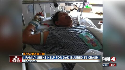 Local dad fights for life after crash