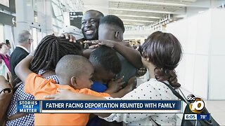 Congolese father facing deportation reunited with his family