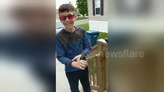 Boy, 11, sees colours for the first time with new glasses